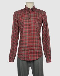 I.D.I.B. Shirts Long Sleeve Shirts Men Red