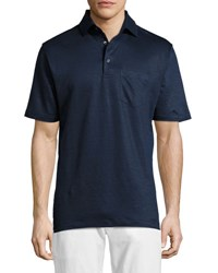 Bobby Jones Italian Linen Jersey Polo Shirt Navy