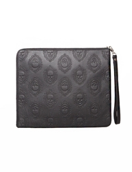 Pixie Market Skull Leather Clutch