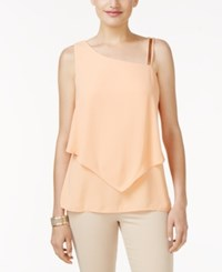 Thalia Sodi Embellished One Shoulder Top Only At Macy's Coral Cloud