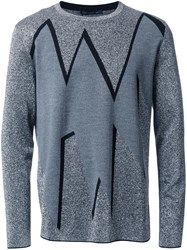 Christopher Kane Smashed Jacquard Sweater Metallic
