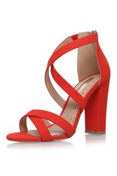 Miss Kg Faun Red High Heel Sandals By Red