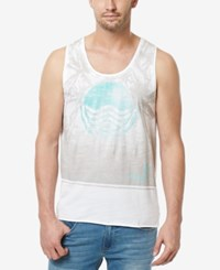 Buffalo David Bitton Men's Tiwave Graphic Print Cotton Tank White