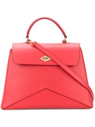 Ballantyne Geometric Detail Tote Red