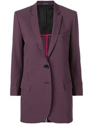 Paul Smith Ps By Checkered Blazer Pink