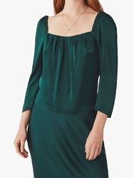 Ghost Holly Square Neck Top Bottle Green