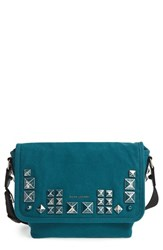 Marc Jacobs 'Small Studs' Canvas Messenger Bag