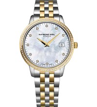 Raymond Weil 5988 Sp5 97081 Toccata Diamond And Two Toned Stainless Steel Watch Mother Of Pearl