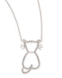 Pave Diamond Cat Pendant Necklace Roberto Coin White Gold