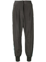 Haider Ackermann Tapered Track Trousers Grey