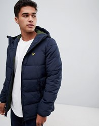 Lyle And Scott Padded Jacket In Navy