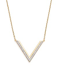 Bloomingdale's Diamond Geometric Pendant Necklace In 14K Yellow Gold .35 Ct. T.W. White Gold