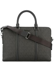 Michael Kors Double Zip Briefcase Brown