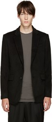 D.Gnak By Kang.D Black Zipper Blazer