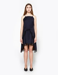Alexander Wang Pinstripe A Line Apron Dress Navy