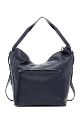 Christopher Kon Crossbody Leather Hobo Blue