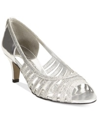 Easy Street Shoes Easy Street Sparkle Evening Sandals Women's Shoes Silver Glitter