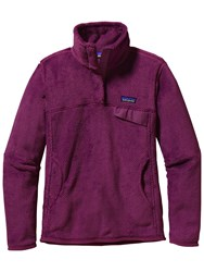Patagonia Re Tool Snap T Fleece Pullover Violet Red