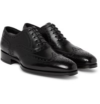 Tom Ford Austin Leather Wingtip Brogues Black