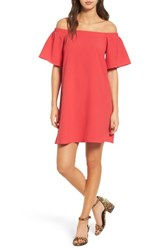 Women's Bp. Off The Shoulder Shift Dress Coral Terra