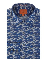 Simon Carter Men's Exclusive Liberty Up Stream Print Moore Blue