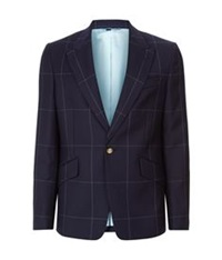 Vivienne Westwood Window Check Suit Jacket Navy