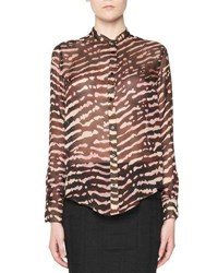 Tom Ford Animal Print Silk Blouse Multi Multi Pattern