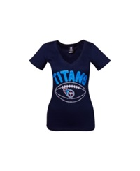 5Th And Ocean Women's Tennessee Titans Baby Jersey Football T Shirt Navy