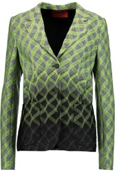 Missoni Metallic Jacquard Knit Blazer