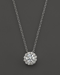 Bloomingdale's Certified Diamond Halo Pendant Necklace In 14K White Gold 1.50 Ct. T.W.