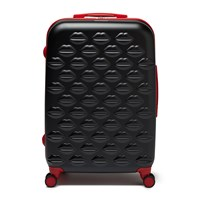 Lulu Guinness Lips Trolley Suitcase Black Red