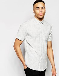 New Look Short Sleeve Shirt With Cream Pattern In Regular Fit Cream Pattern