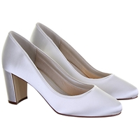 Rainbow Club Florence Block Heeled Court Shoe Ivory