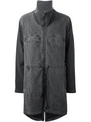 Lost And Found Washed Distressed Coat Black