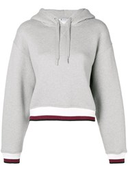 Alexander Wang T By Contrast Band Hoodie Grey