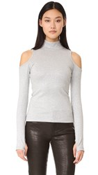 Won Hundred Simona Cold Shoulder Sweater Silver