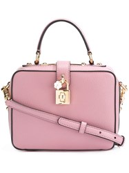 Dolce And Gabbana Soft 'Dolce' Tote Pink And Purple