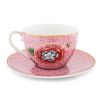 Pip Studio Spring To Life Cappuccino Cup And Saucer Pink