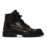 Common Projects Woman By Black Hiking Boots