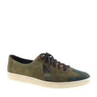 Men's Sawatm For J.Crew Dr. Bess Sneakers In Camo Suede Olive Camo