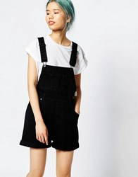 Monki Denim Overalls Black