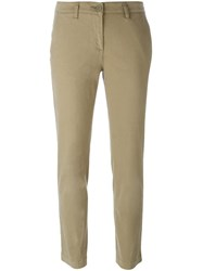 P.A.R.O.S.H. Straight Cropped Trousers Nude And Neutrals
