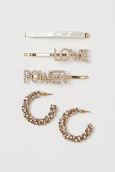 Handm H M Hairpins Earrings White