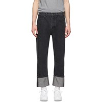 Valentino Black Washed Overfit Jeans