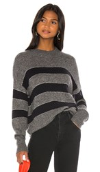 Rails Ellise Cashmere Blend Sweater In Gray. Charcoal Midnight Stripe
