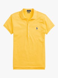 Ralph Lauren Polo Julie Skinny Fit Stretch Polo Shirt Yellow