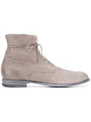 Officine Creative Laine Boots Calf Leather Leather Grey