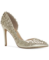 Inc International Concepts Women's Karlay Floral Embellished Evening Pumps Only At Macy's Women's Shoes Pearl Gold