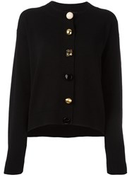 Dolce And Gabbana Embellished Button Cardigan Black