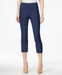 Style And Co Petite Pull On Capri Pants Only At Macy's Industrial Blue